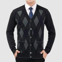 中老年毛衣爸爸加厚开衫针织衫秋冬男士羊毛衫老人线衣50-60-70岁