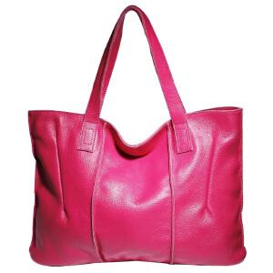 莫尔克merkel 欧美新款牛皮女包 手提购物袋头层牛皮单肩女大包 69317