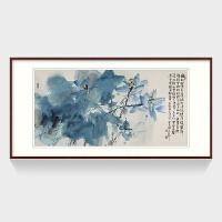 新中式客厅装饰画 餐厅国画 装裱高90*长180 按拍下颜色发货厚板