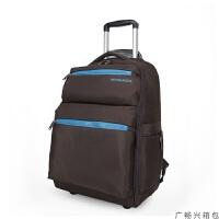 拉杆包带轮子的旅行包 拉杆背包带轮子20寸登机箱帆布旅行书包可背可拉行李箱男女款拉包 20寸