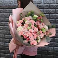 送给妈妈的生日礼物鲜花 教师节粉康乃馨花束鲜花妈妈生日礼物鲜花速递同城成都配送上门