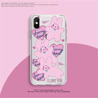 可爱文字女孩适用苹果12手机壳7/8plus男iphone11女5s xr卡通iphonex 6s 6plus xs m