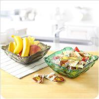 欧式透明大号水果盘零食盘瓜子干果PP糖果盘方形点心盘
