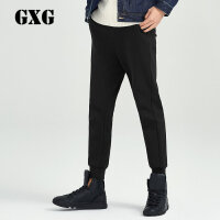 GXG男装 冬新品黑色休闲针织长裤#174802009