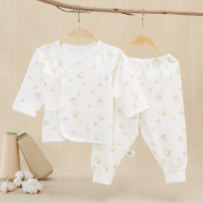 宝贝红 儿童纯棉内衣套装  婴儿秋衣套装 婴儿内衣 2018春季新生儿内衣