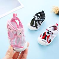 宝宝凉鞋女夏季0-1-3岁幼儿包头防撞婴儿凉鞋软底防滑男宝宝鞋子