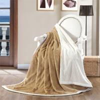 家纺2017秋冬季新款棉被子纯色法莱绒毛毯被子盖毯沙发毯珊瑚绒空调单人双人毯子