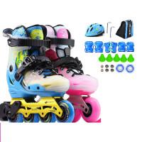 【支持*】溜冰鞋儿童全套装初学者男女平花鞋可调节轮滑鞋S7 w2k