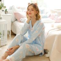 梦蜜夏季薄款月子服日式和服春夏纯棉孕妇睡衣产妇产后哺乳套装