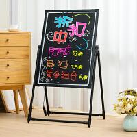 电子荧光板广告板60*80夜光广告牌悬挂式手写字板led发光小黑板