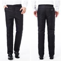 新款羽绒裤男式外穿修身休闲加厚高腰直筒中老年羽绒裤男外穿 黑色