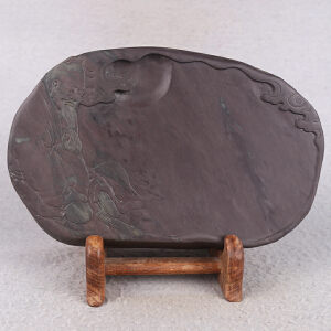 中国非物质文化遗产传承人群 钟景锐作品《博学砚》斧柯东