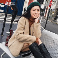 七格格仿皮草外套女羊羔毛2018新款韩版秋冬装季百搭显瘦皮毛一体夹克潮