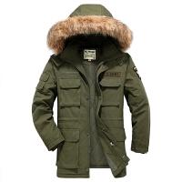 20180408081046919军装新款可拆卸帽工装休闲风衣外套 加厚立领保暖棉衣男