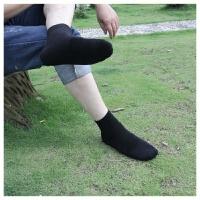 袜子男士春夏季中筒黑灰商务休闲纯色棉袜工作一次性长袜