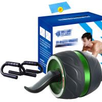 回弹健腹轮初学者马甲线运动健身器材家用男女收减肚子练腹肌滚轮