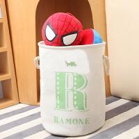 脏衣篮玩具收纳桶可折防水家居布艺脏衣服收纳筐脏衣篓洗衣篮子 绿色 绿R加厚小号