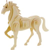 立体拼图木质智力拼装儿童益智手工DIY模型玩具礼物