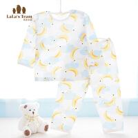 婴儿内衣裤宝宝睡衣套装薄款儿童空调服长袖夏季男女