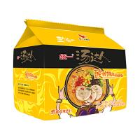 统一汤达人酸酸辣辣豚骨面130g*5袋 家庭装速食方便面 泡面汤面