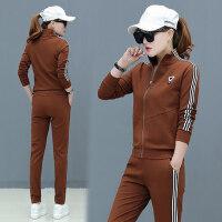 运动服套装女潮韩版时尚女装三件套休闲跑步一套衣服女休闲服