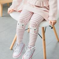 CONY FACE 大大眼睛萌萌哒 女童/童装 小兔子条纹加绒打底裤