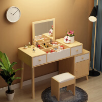 【一件3折】加厚环保多功能北欧可伸缩实木腿化妆桌 欧式梳妆台小户型卧室化妆台