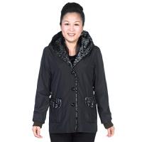 中老年女装 秋装外套中年妈妈装中长款长袖宽松大码上衣女40-50岁