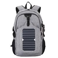 新款夏季太阳能充电旅行背包户外运动男士双肩包多功能休闲潮包个性书包男 20
