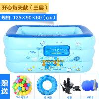 儿童节礼物 男孩婴儿童游泳池家用超大号充气泳池加厚家庭小孩水池宝宝洗澡盆 戏水玩具