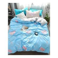 床上四件套棉床品1.8米床单被套1.5m床笠被罩床裙三件套
