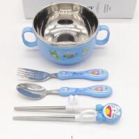 儿童学习筷子家用勺子套装不锈钢幼儿训练筷小孩吃饭用筷宝宝餐具