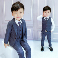 儿童西装套装男三件套1一3岁男童礼服婚礼绅士5宝宝西服6男孩正装