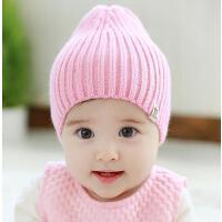 婴儿帽子秋冬0-3-6-个月宝宝帽子男女儿童套头帽针织毛线帽护耳