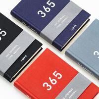 韩国文具批发联华文具简约365天日记精装本F4手账日记本笔记本11406大版