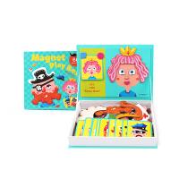 美乐儿童磁力片玩具DIY百变贴画造型磁力贴 早教益智动手玩具