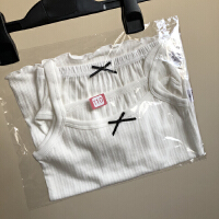 18年新款女童纯棉吊带+短裤套装 呼吸棉婴幼儿家居服内衣套装
