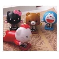 陆捌壹肆 新品卡通 Hello Kitty 哆啦a梦 叮当 轻松熊 迷你订书机 订书器 1个装