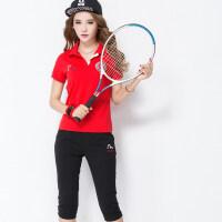 运动套装女夏季短袖T恤潮时尚广场舞网球服棒球羽毛球裙幼儿园