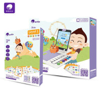 儿童思维训练第一阶段3-4岁幼儿早教益智逻辑派对玩具 AR逻辑题卡1阶+训练板+便携底座含探测器