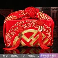 女方结婚用品大全包袱皮喜盆包裹布中式婚礼道具新娘嫁妆红布喜品