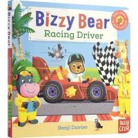 Bizzy Bear 小熊很忙好忙 Racing Car 赛车 儿童英语纸板机关操作书 英文原版绘本进口图书