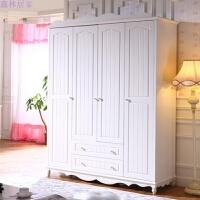 韩式田园实木衣柜两门三门四门衣柜组合大衣柜卧室家具