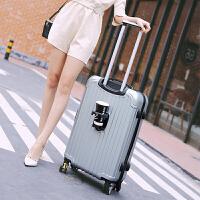 时尚学生行李箱拉杆箱旅行箱密码箱皮箱大容量30寸28寸挂扣手拉箱SN9362 灰色 银灰色
