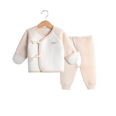 初生儿和尚服内衣夹棉套装保暖衣春秋衣服宝宝