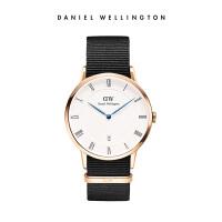 Danielwellington丹尼尔惠灵顿DW手表38mm织纹带男士日历石英表