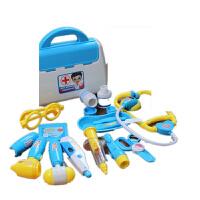 儿童过家家仿真医生玩具套装 宝宝扮医生护士打针看病玩具2-3-6岁 豪华套餐[蓝色] 送吊瓶+10粒电子