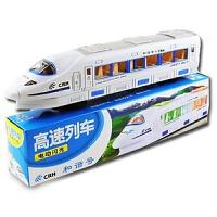 儿童玩具大号和谐号火车 万向电动火车模型发光声音 带音乐灯光
