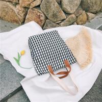 ins帆布包chic斜挎包女帆布袋女单肩韩版学生韩国清新百搭