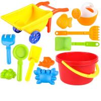 儿童沙滩玩具车套装宝宝玩沙子大号挖沙漏铲子戏水洗澡决明子工具